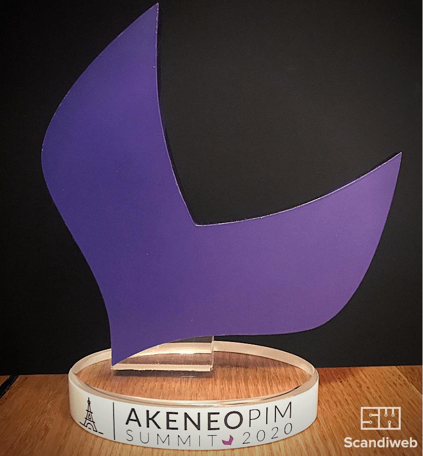 Akeneo awards trophy. Scandiweb 2020