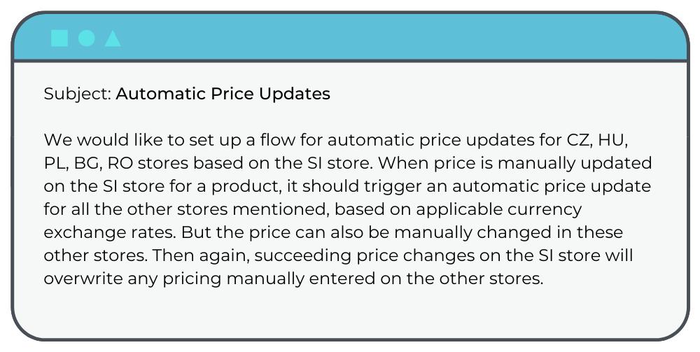 Magento Support Request: Price Updates