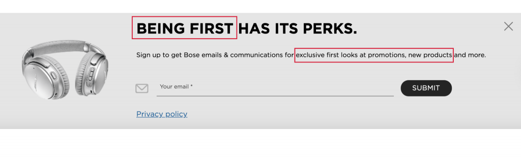 An example of how scarcity marketing is skillfully applied in a page copy